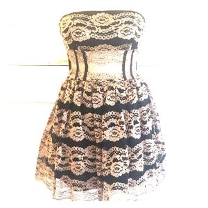 Bebe Black Gold Dress